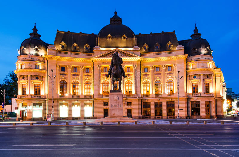Biblioteca de universidad en Bucarest, Rumania