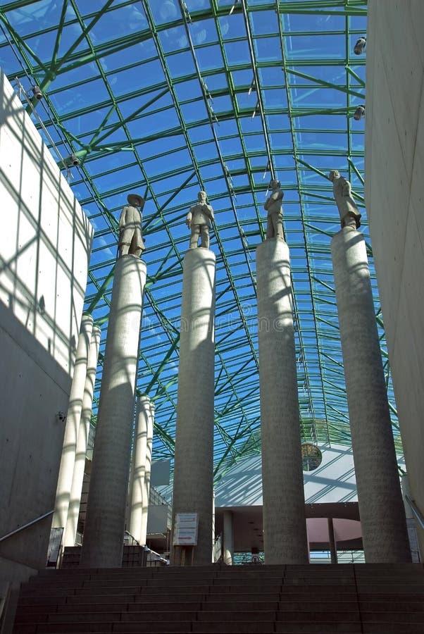 Biblioteca de UW em Varsóvia fotografia de stock