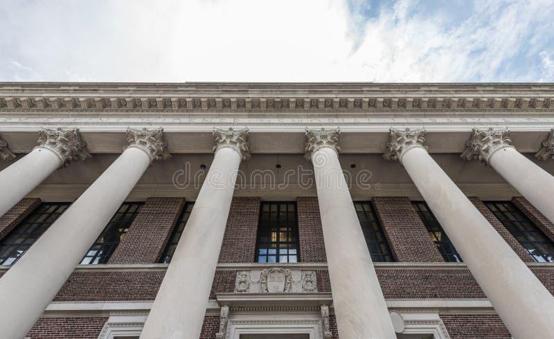 Biblioteca de Widener de la Universidad de Harvard imagenes de archivo