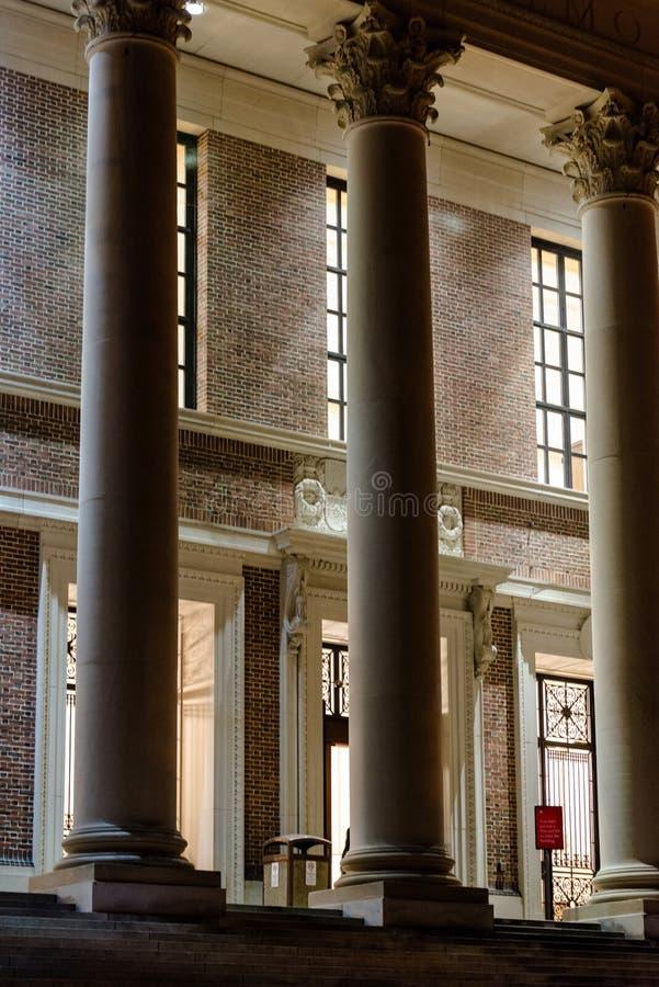 Biblioteca de Widener, Universidade de Harvard fotos de stock