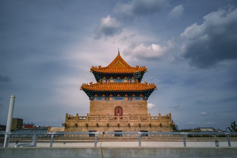 Biblioteca de Yangpu, Shangai, China fotografía de archivo
