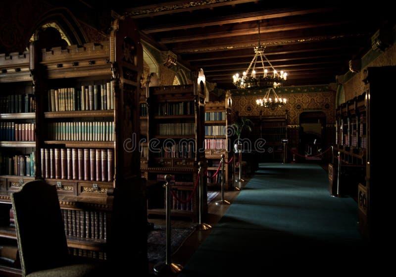 Biblioteca del castello di Cardiff fotografia stock libera da diritti