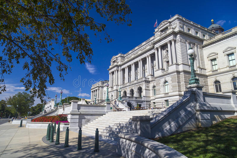 Biblioteca del Congresso, Thomas Jefferson Building in Washington DC, fotografia stock
