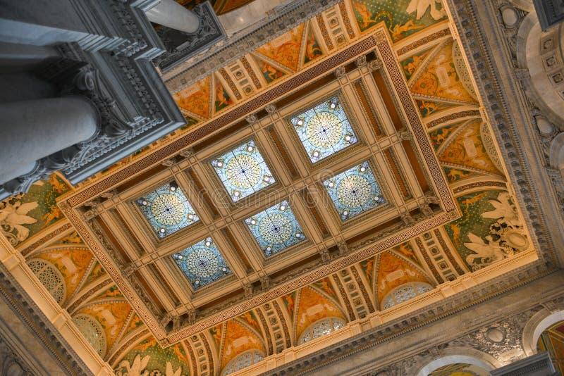 Biblioteca del Congresso in Washington DC immagine stock