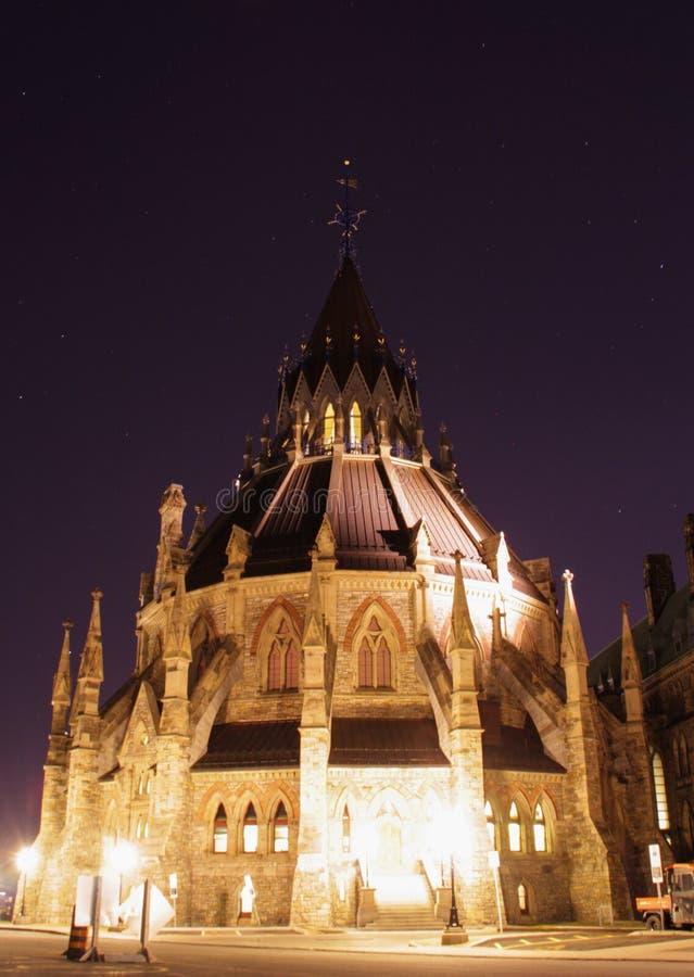 Biblioteca del Parlamento canadese in Ottawa, Canada fotografie stock libere da diritti