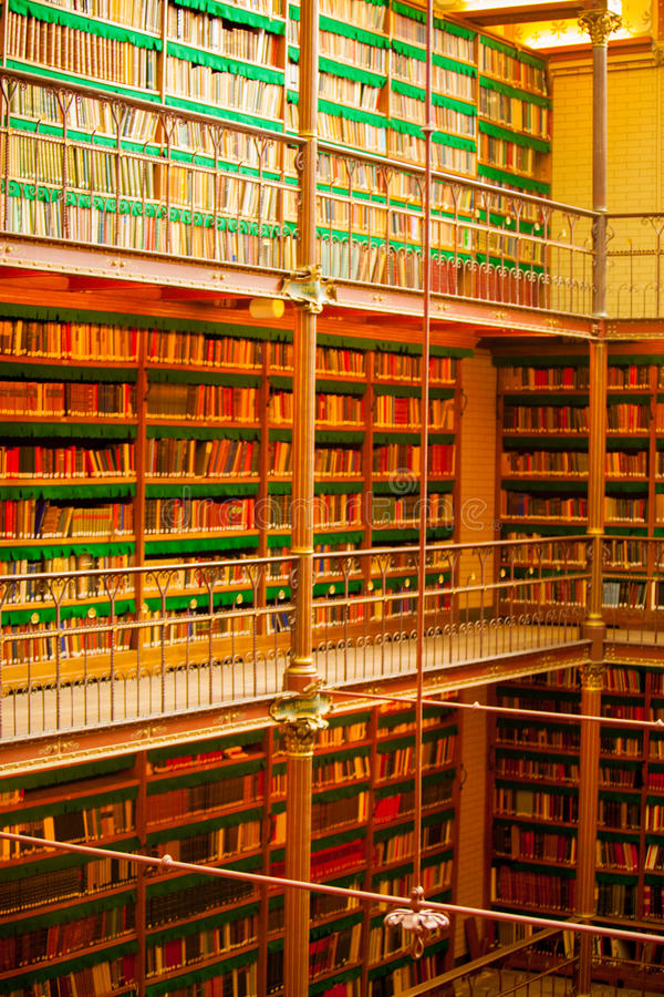 Biblioteca di Amsterdams immagini stock libere da diritti