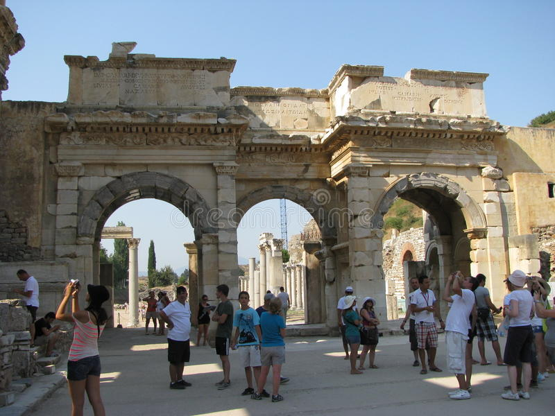 Biblioteca di Celso in Ephesus immagini stock