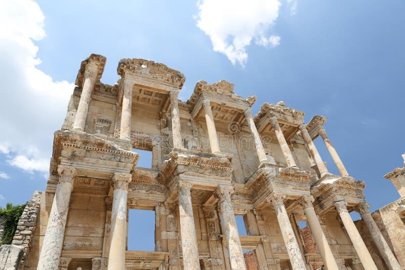 Biblioteca di Celso in Ephesus fotografia stock