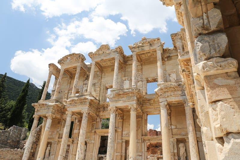 Biblioteca di Celso in Ephesus immagine stock