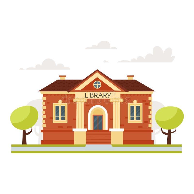 Biblioteca educativa del edificio libre illustration
