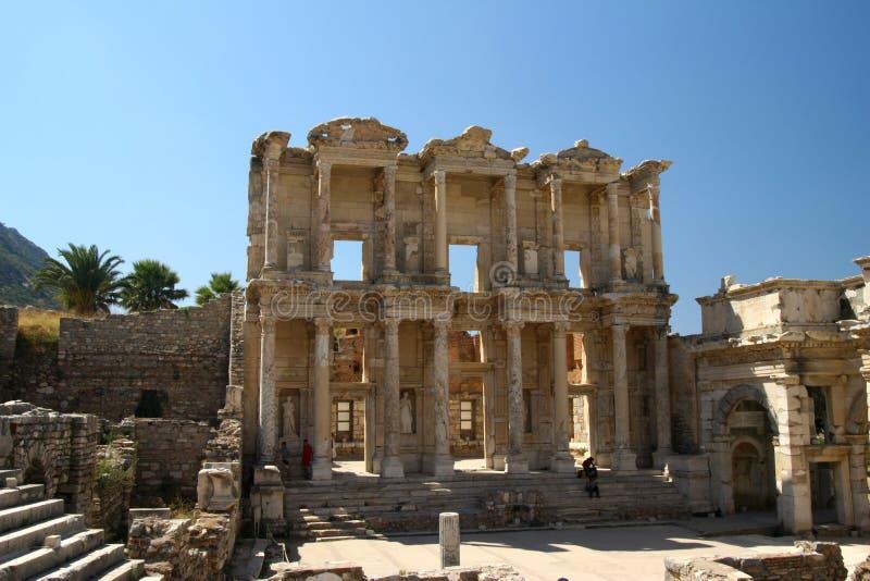 Biblioteca em Efes/Ephesus fotografia de stock royalty free