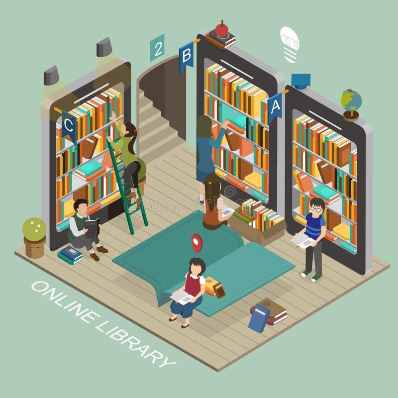 Biblioteca em linha ilustração royalty free