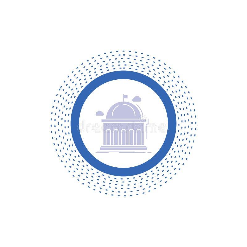 Biblioteca, escuela, educación, aprendiendo, icono del Glyph de la universidad Ejemplo aislado vector ilustración del vector