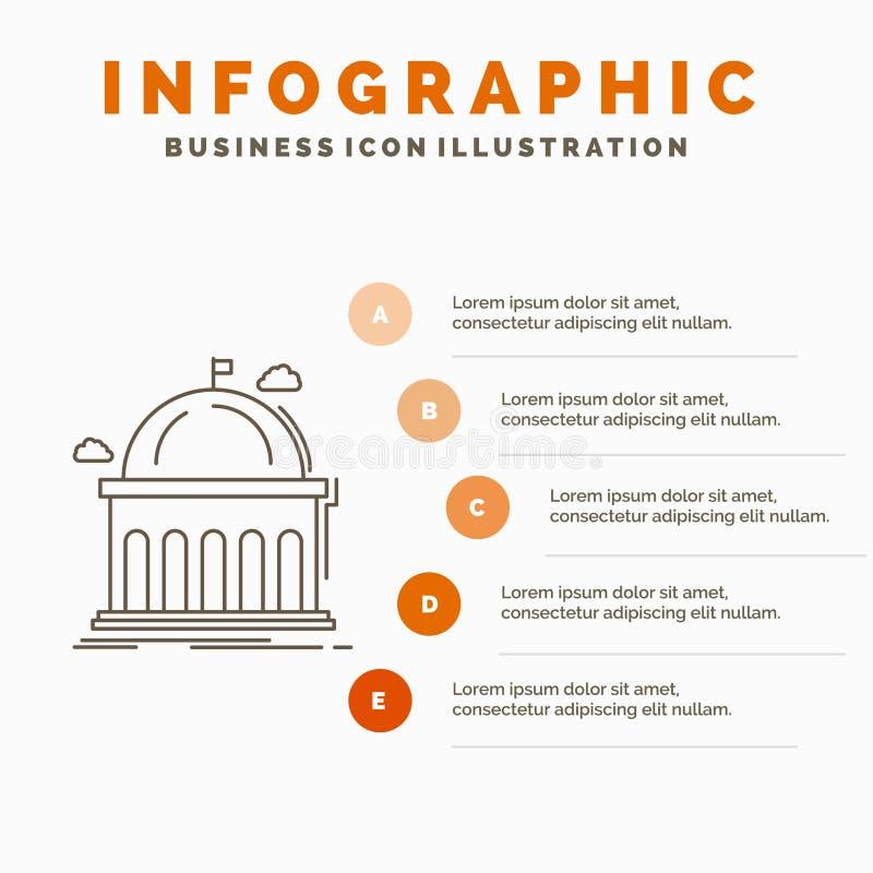 Biblioteca, escuela, educación, aprendizaje, plantilla de Infographics de la universidad para la página web y presentación L?nea  libre illustration