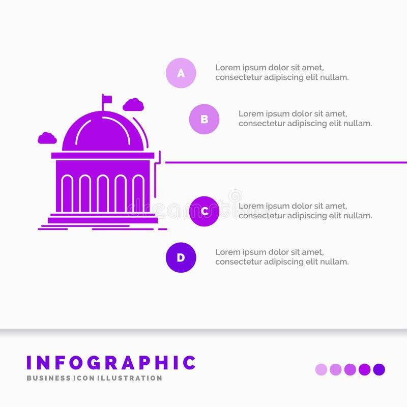 Biblioteca, escuela, educaci?n, aprendizaje, plantilla de Infographics de la universidad para la p?gina web y presentaci?n Icono  libre illustration