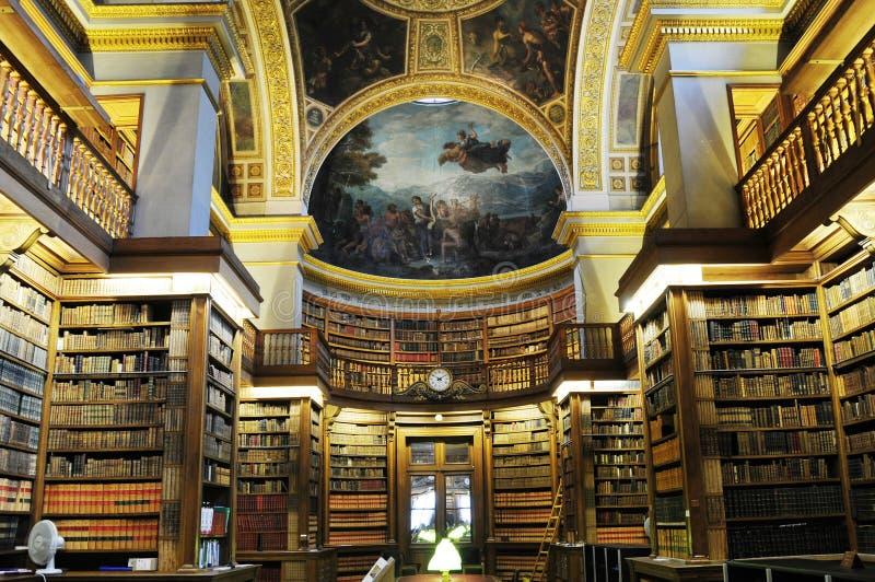 Biblioteca esplêndida interna em mini principal de France imagens de stock royalty free