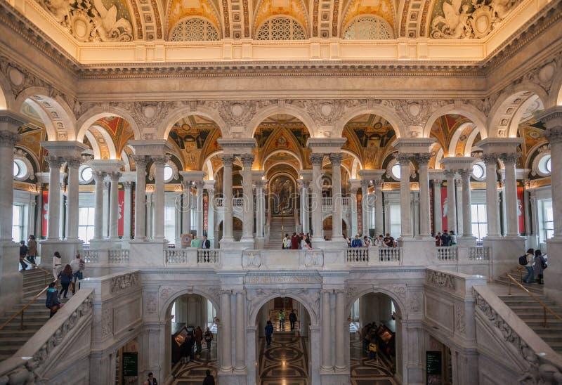 Biblioteca Hall Washington del congresso fotografia stock libera da diritti