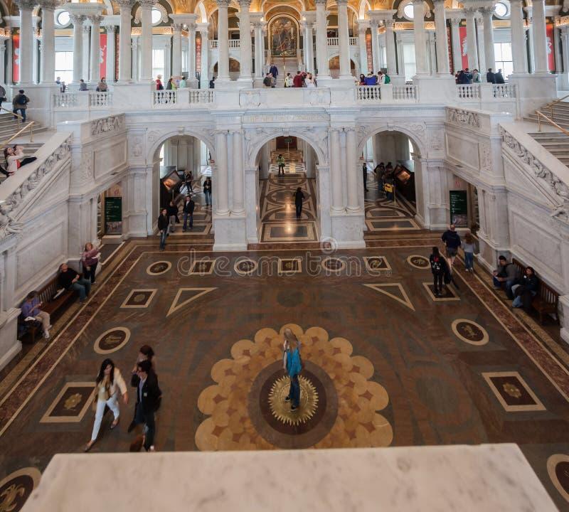 Biblioteca Hall Washington del congresso immagini stock libere da diritti