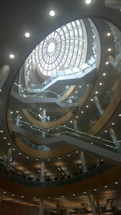 Biblioteca interna de Liverpool fotografia de stock royalty free