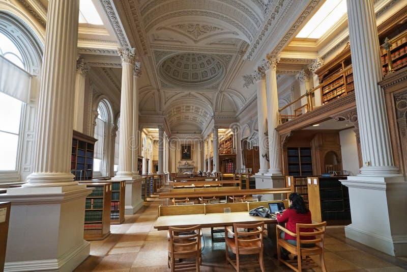 Biblioteca legale vittoriana fotografia stock