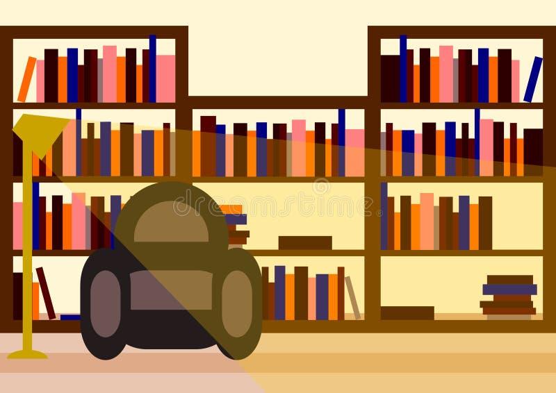 Biblioteca minimalista del vector ilustración del vector