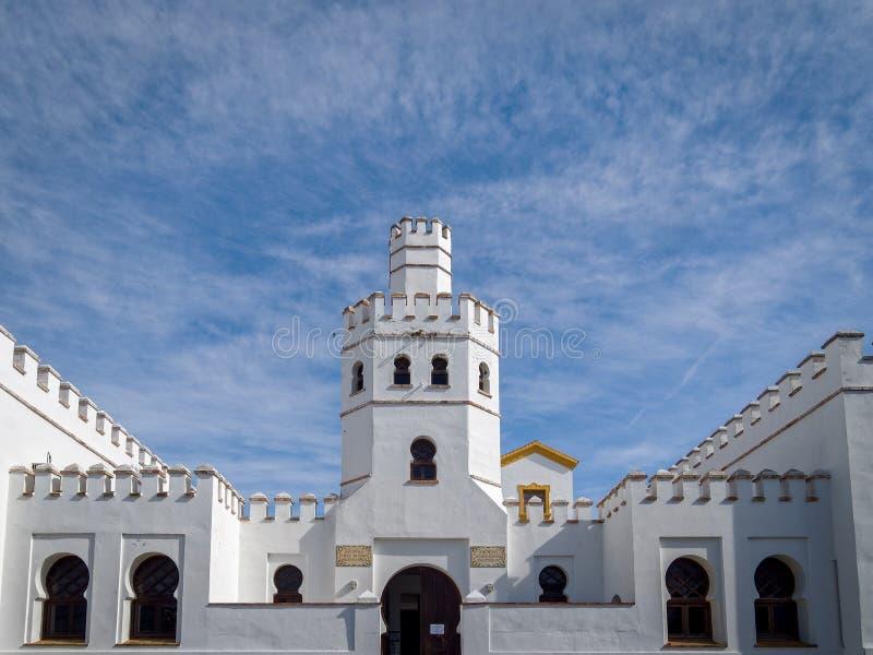 Biblioteca municipal en Tarifa - Andalucía, España foto de archivo libre de regalías