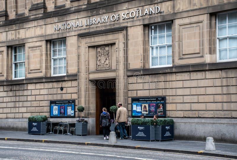 Biblioteca nacional de Escocia Edimburgo fotografía de archivo