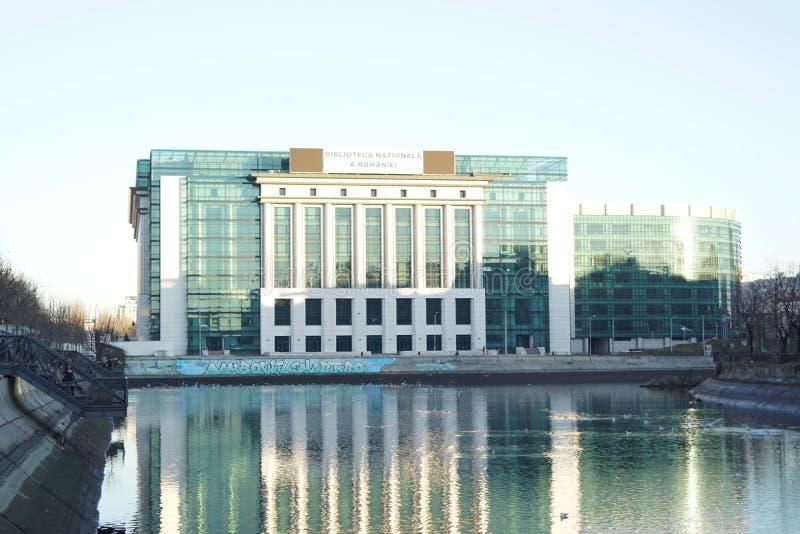 Biblioteca nacional de Romania imagem de stock royalty free