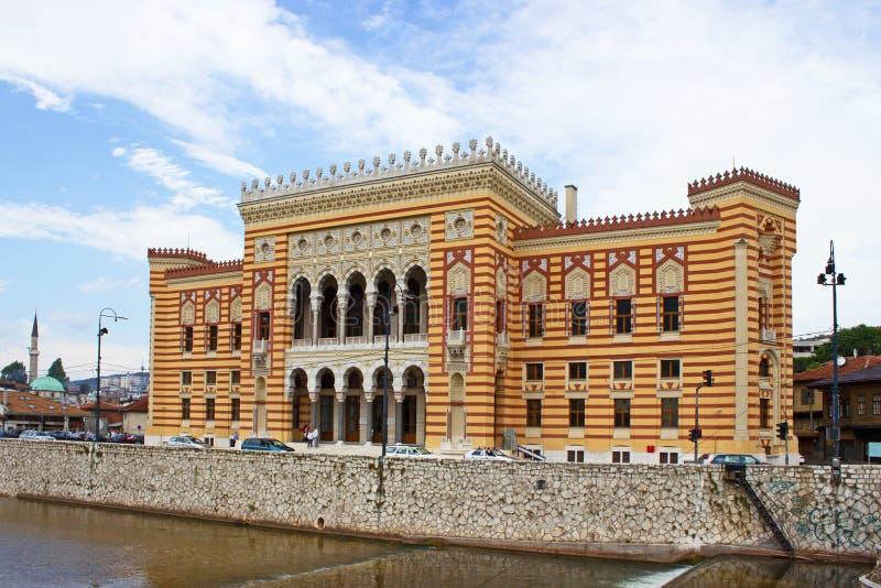 Biblioteca nacional em Sarajevo foto de stock royalty free