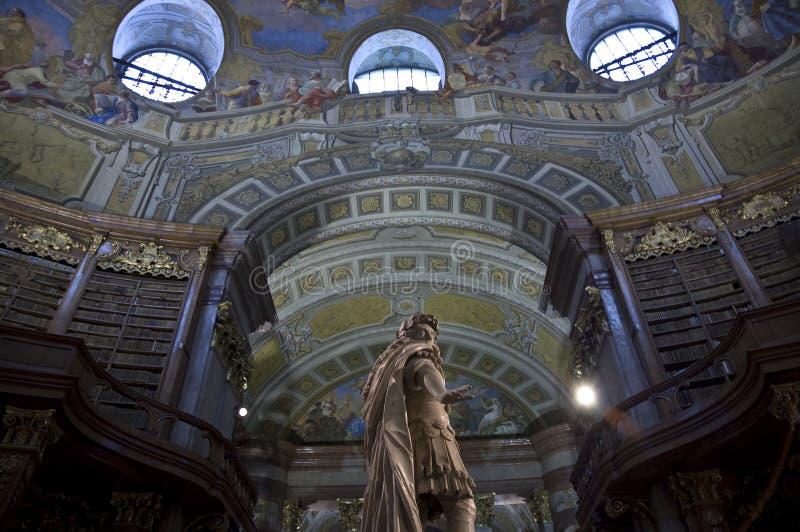 Biblioteca nazionale austriaca a Vienna fotografie stock