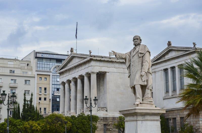 Biblioteca nazionale della Grecia, Atene, Grecia immagine stock