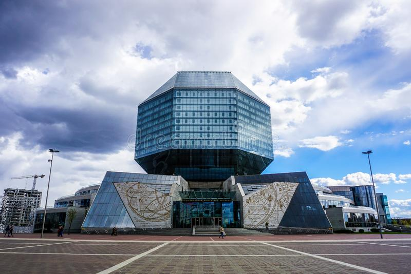 Biblioteca nazionale di Minsk fotografie stock