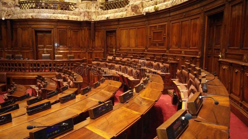 A biblioteca no palácio legislativo, Palacio Legislativo imagem de stock