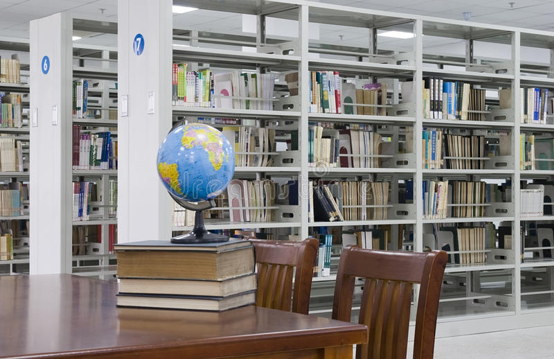 Biblioteca nova 2 fotografia de stock royalty free