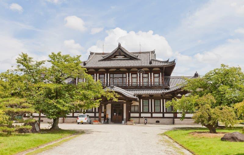 Biblioteca pública anterior y x28; 1908& x29; en el castillo de Yamato Koriyama, Japón foto de archivo