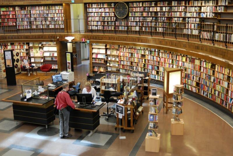 Biblioteca pública de Éstocolmo fotografia de stock royalty free