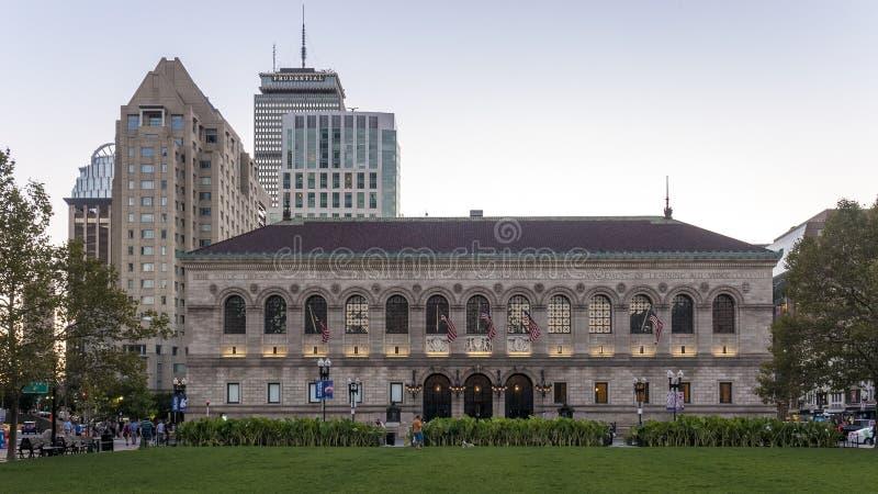 Biblioteca pública de Boston imagens de stock