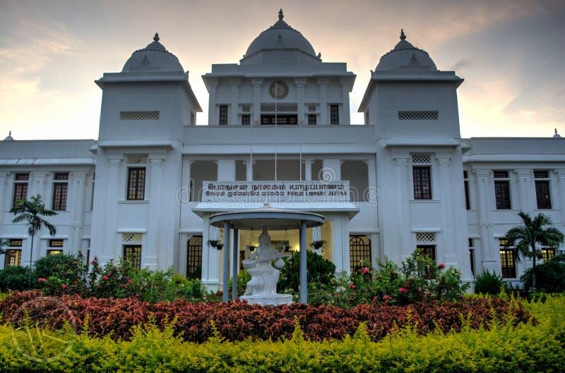 Biblioteca pública de Jaffna imagen de archivo libre de regalías