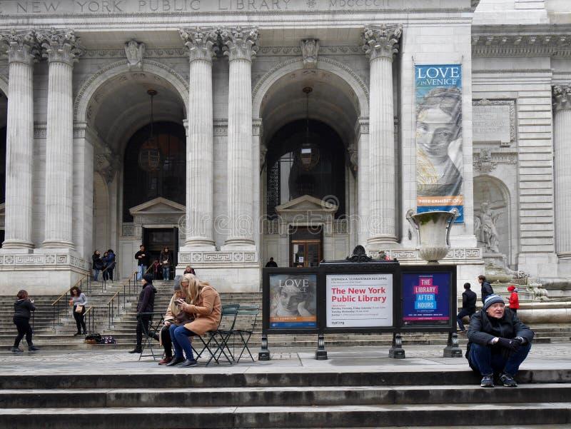 Biblioteca pública de New York fotografia de stock