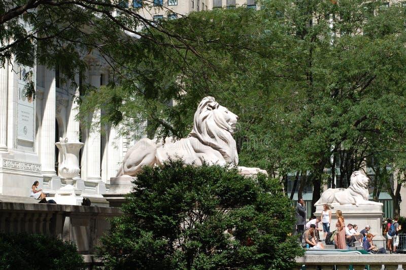 A biblioteca pública de New York City fotos de stock