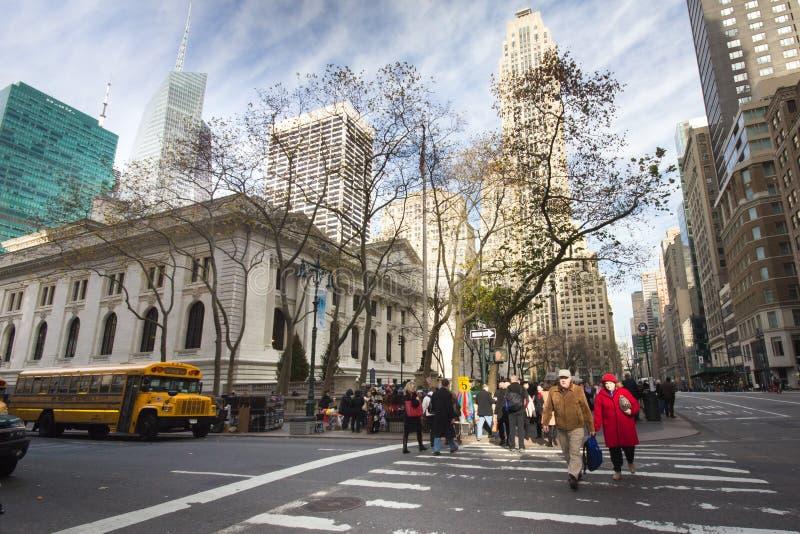 Biblioteca pública de New York City fotos de archivo