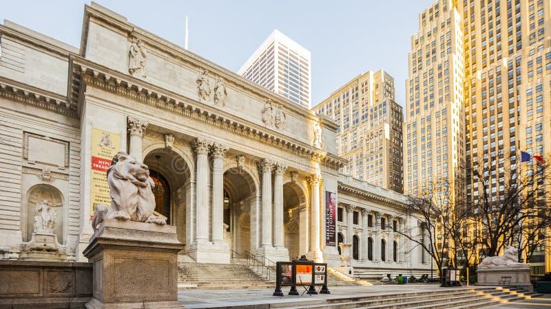Biblioteca Pública de Nova York imagens de stock