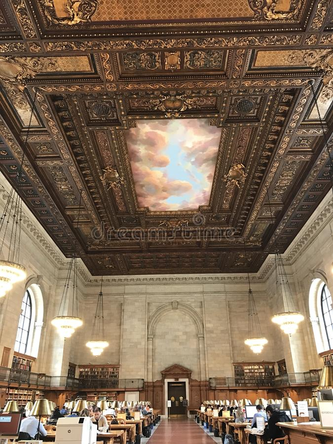 Biblioteca pública de Nueva York imagen de archivo