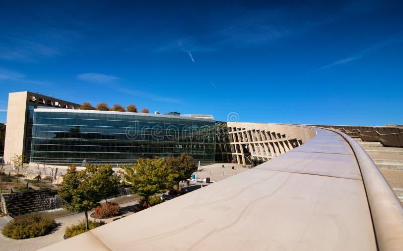 Biblioteca pública de Salt Lake City imágenes de archivo libres de regalías