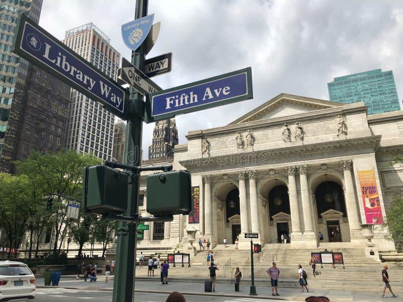 Biblioteca pública em New York fotografia de stock royalty free
