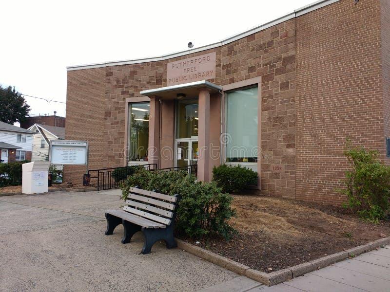Biblioteca pública, Rutherford, NJ, los E.E.U.U. imágenes de archivo libres de regalías