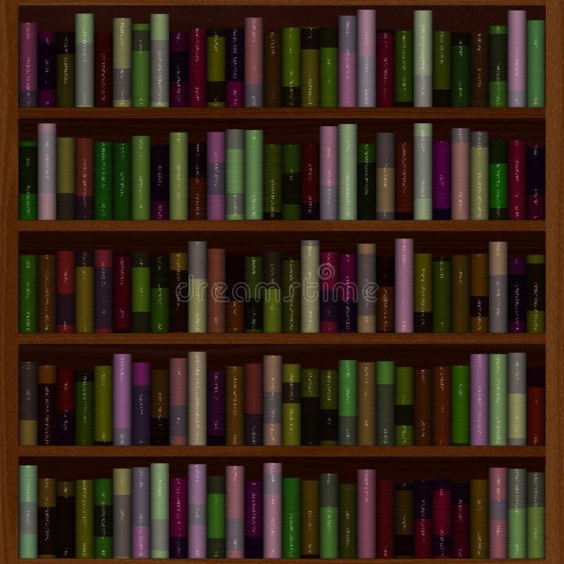 Biblioteca por completo de libros viejos libre illustration