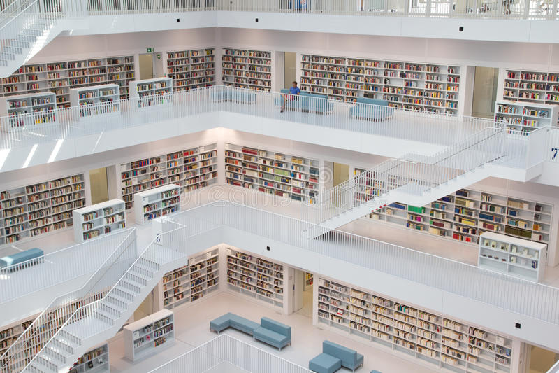 Biblioteca pubblica fotografia stock