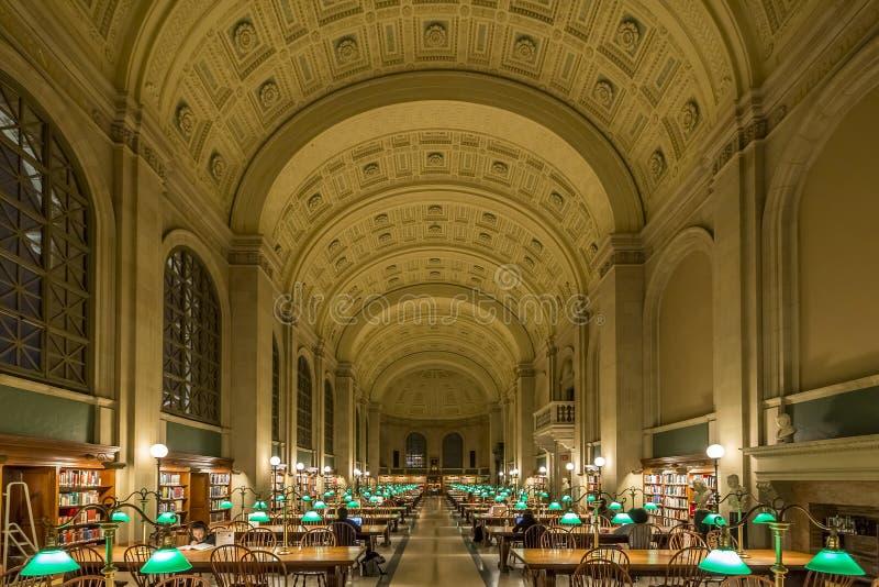 Biblioteca pubblica di Boston fotografia stock
