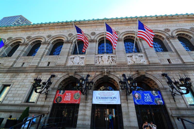 Biblioteca pubblica di Boston fotografia stock libera da diritti